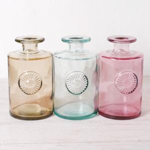 フラワーベース 花瓶 ガラス リサイクルガラスベース|hana-kazaru