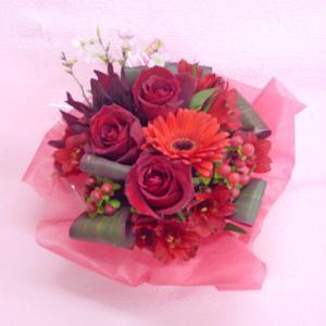 レッド系 アレンジ お花屋さんにおまかせ フラワーギフト|hana-mizuki|05