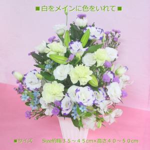 菊のお供えアレンジ 命日・お悔やみに|hana-mizuki|05