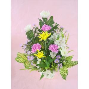 『和』 季節の花屋におまかせお供えアレンジメント |hana-mizuki
