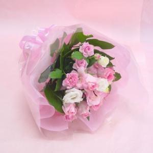 ピンク系 短めの花束 お花屋さんにおまかせブーケ風  フラワーギフト|hana-mizuki|05