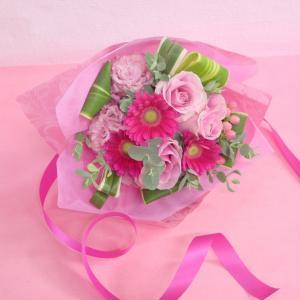 ピンク系 短めの花束 お花屋さんにおまかせブーケ風  フラワーギフト|hana-mizuki|06