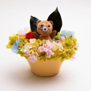 くままぁむ【送料無料・当日発送・ギフト包装・メッセージカード・一部地域配達】プリザーブドフラワーのプレゼント 誕生日 記念日 お祝い お見舞い お供え|hana-sandlot