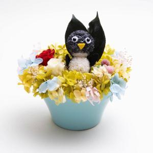 ペンギンまぁむ【送料無料・当日発送・ギフト包装・メッセージカード・一部地域配達】プリザーブドフラワーのプレゼント 誕生日 記念日 お祝い お見舞い お供え|hana-sandlot