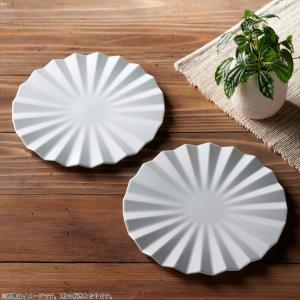 アペックス 菊型プレート 27cm ホワイト キャッシュレス 還元|hana2
