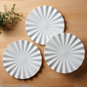 アペックス 菊型プレート 24cm ホワイト キャッシュレス 還元|hana2