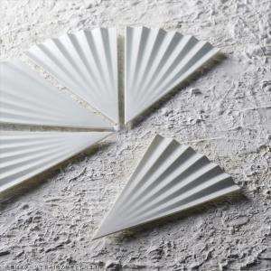 アペックス 扇型三角プレート 24cm ホワイト キャッシュレス 還元|hana2