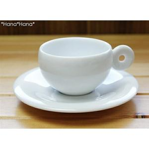 クレセント エスプレッソコーヒー カップ&ソーサー 100cc ホワイト キャッシュレス 還元|hana2