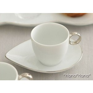 デジュネ エスプレッソコーヒーカップ 150cc 取っ手プラチナ キャッシュレス 還元|hana2