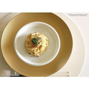 ディモーダ ホワイト/ゴールド スープパスタ皿 28cm キャッシュレス 還元|hana2