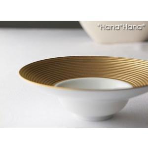 ディモーダ ホワイト/ゴールド ハット型ボウル 16cm キャッシュレス 還元|hana2
