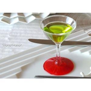 ディヴェール カクテルグラス 80cc レッド ガラス キャッシュレス 還元 hana2