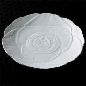 ローゼ 薔薇 ディナープレート 27cm ホワイト プラチナライン キャッシュレス 還元|hana2