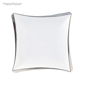パルフェ スクエアプレート 20cm ホワイト プラチナライン (お取り寄せ品) キャッシュレス 還元|hana2