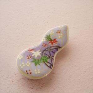 友禅パープル 箸置き キャッシュレス 還元|hana2