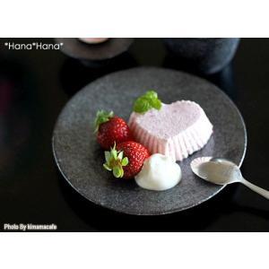 カネコ小兵 銀黒回角 高台ケーキ皿 16cm ブラック キャッシュレス 還元|hana2