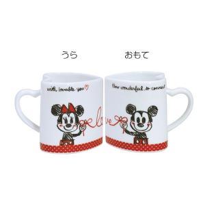 ディズニー ミッキー&フレンズハートマグペア(ミッキー&ミニー) (お取り寄せ品) キャッシュレス 還元|hana2