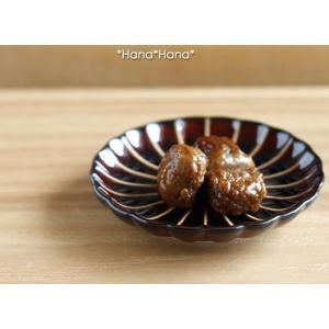カネコ小兵 ぎやまん陶 菊形小皿 10cm ブルー/ブラウン/グリーン キャッシュレス 還元|hana2