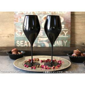 カラーズ/ブラック ツル 24oz ボルドー 赤ワイングラス 720ml ガラス漆加工 // おしゃ...