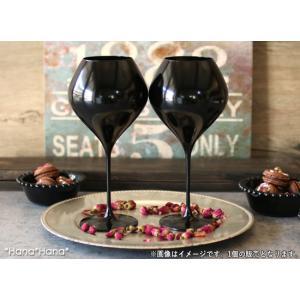 カラーズ/ブラック ツル 28oz ブルゴーニュ 赤ワイングラス 860ml 1個 ガラス漆加工 /...