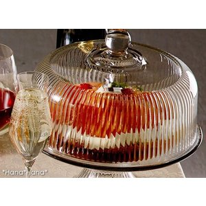 モナコ ドーム ケーキスタンド 26.3cm ふた付き ガラス キャッシュレス 還元|hana2