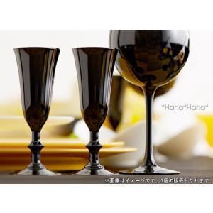 カラーズ/ブラック ヴィーニュ ミニフルートグラス 70ml 1個 ガラス漆加工 キャッシュレス 還元|hana2