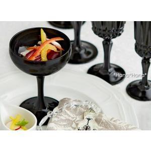 カラーズ/ブラック エレガンス シャンパングラス 160ml 1個 ガラス漆加工 キャッシュレス 還元|hana2