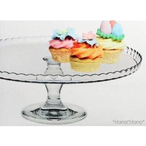 パティシエール ガラスケーキスタンド 32cm (皿上向き) キャッシュレス 還元|hana2