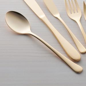 ゴールド デザートスプーン 18cm ステンレス キャッシュレス 還元|hana2