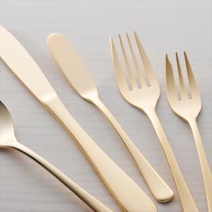 ゴールド バターナイフ 15cm ステンレス キャッシュレス 還元|hana2