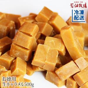 花畑牧場 お徳用生キャラメルプレーン500g【冷凍配送】
