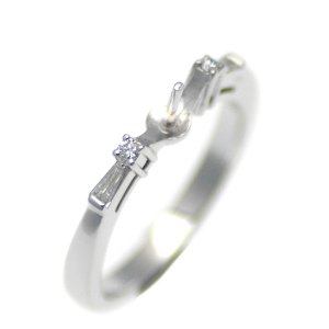 アコヤ真珠用 プラチナ リング枠  Pt950 商品番号:R02064|hanadama-ise