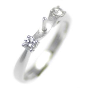 アコヤ真珠用 プラチナ リング枠  Pt950 商品番号:R03097|hanadama-ise