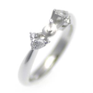 アコヤ真珠用 プラチナ リング枠  Pt950 商品番号:R20025|hanadama-ise