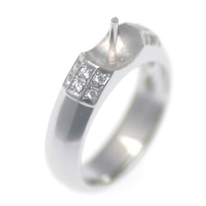 アコヤ真珠用 プラチナ リング枠  Pt950 商品番号:R20085|hanadama-ise