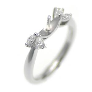 アコヤ真珠用 プラチナ リング枠  Pt950 商品番号:R20225|hanadama-ise