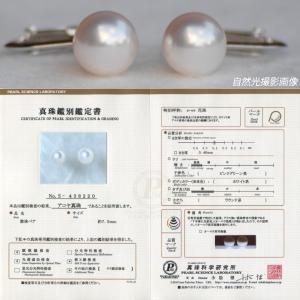 オーロラ花珠真珠 イヤリング(またはピアス) 7.5mm-8.0mm ブルーイッシュピンク 商品番号:S438220|hanadama-ise|02