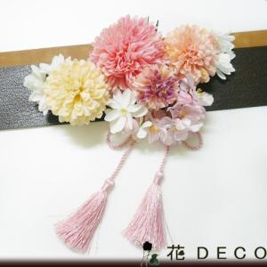 花 髪飾り 菊sと桜小花 ピンク 結婚式 成人式 卒業式 和...