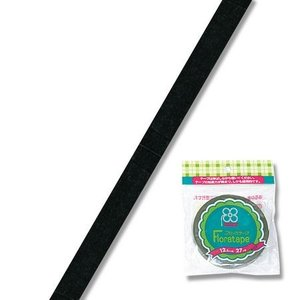 フローラテープ12.5mm ブラック 90-10-15 02  12巻//花 資材 テープ フローラテープ