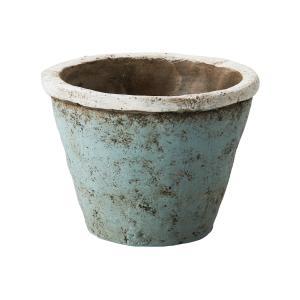 リドミーポット M MC-1634 シャビーブルー 155-1634-69 プランター 陶器