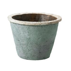 リドミーポット L MC-1635 シャビーブルー 155-1635-69 プランター 陶器