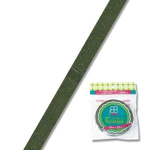 即日 フローラテープ12.5mm モスグリーン/MTR86000003 00 //花 資材 テープ フローラテープ