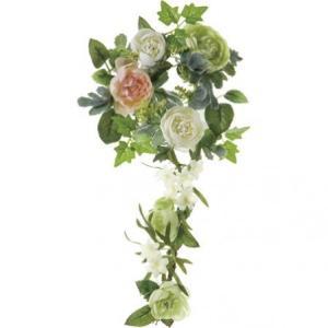 即日  造花 YDM ラナンキュラスリース グリーンホワイト FBC8007-G W 00   造花 花材「ら行」 ラナンキュラス