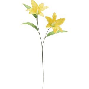 造花 YDM ユリX2 イエロー FF2878-Y 01 造花 花材「や行」 ユリ 百合 リリー