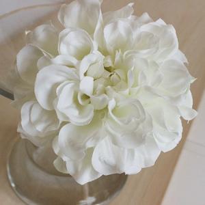 即日 造花 アスカ ダリアピック ホワイト A-31451-1 造花 花材「た行」 ダリア|hanadonya