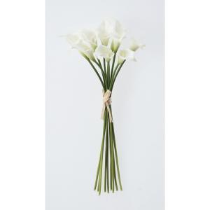 即日  造花 アスカ カラーリリィバンチ 1束9本  ホワイト A-33028-001 00   造花 花材「か行」 カラー