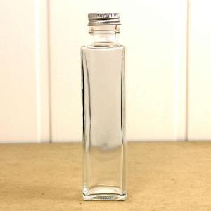 即日 ハーバリウム瓶 角 150ml アルミ銀キャップ付 花資材 道具 ハーバリウム材料 ハーバリウム 瓶