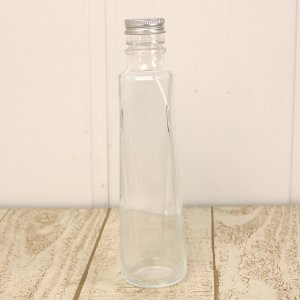 即日 ハーバリウム瓶 クォーツ 200ml アルミ銀キャップ付 00 花資材 道具 ハーバリウム材料 ハーバリウム 瓶