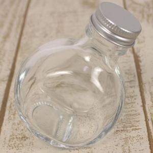 即日 ハーバリウム瓶 フラット 100ml アルミ銀キャップ付 花資材 道具 ハーバリウム材料 ハーバリウム 瓶