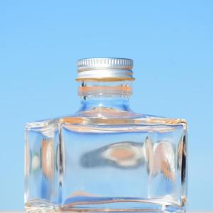 即日 ハーバリウム瓶 スクエアショート 150ml アルミ銀キャップ付 花資材 道具 ハーバリウム材料 ハーバリウム 瓶
